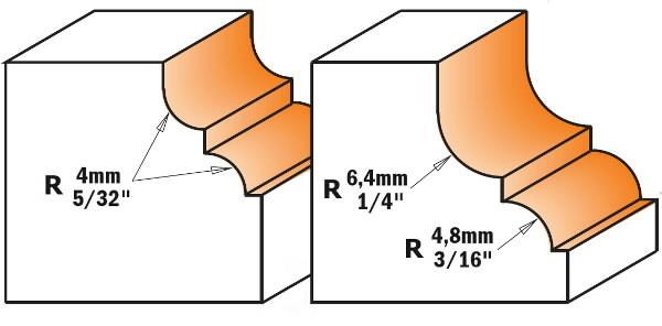 CLASSICAL OGEE BIT HW S=12 D=35X18,5, CMT