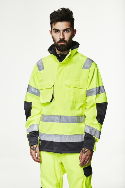 Jakk Alna kõrgnähtav CL3, kollane/must L, Helly Hansen WorkWear