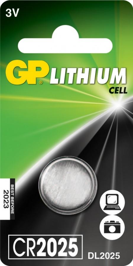 Patarei CR2025, 3V, Liitium, 1 tk., GP