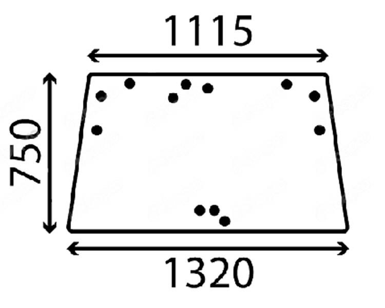 Tagaklaas ülemine M125/M128/M130
