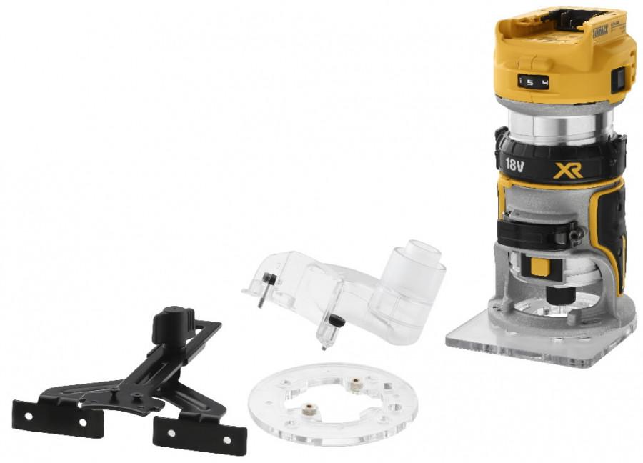 Akuga servafrees DCW600N, harjavaba,  6-8mm tsang, karkass, DeWalt
