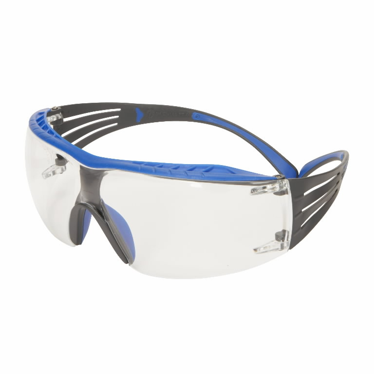 Protective eyewear with RAS, clear lens SF401XRAS-GRN, 3M
