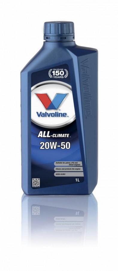 Mootoriõli ALL CLIMATE 20W50 1L, Valvoline