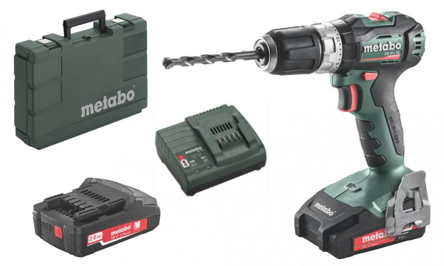 Akumulatora  triecienurbjmašīna SB 18 L BL / 2x2,0 Ah, Metabo