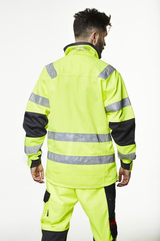 Jakk Alna kõrgnähtav CL3, kollane/must 2XL, Helly Hansen WorkWear