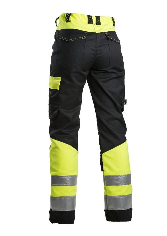 Tööpüksid 6046 naiste, kõrgnähtav CL1, must/kollane 48, Dimex
