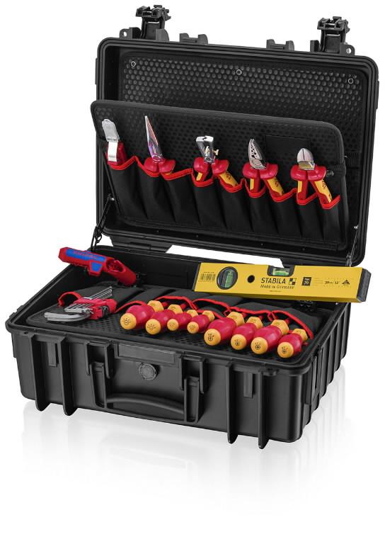 Tööriistakomplekt elektrikule Robust23 Start, VDE, 24 osa, Knipex