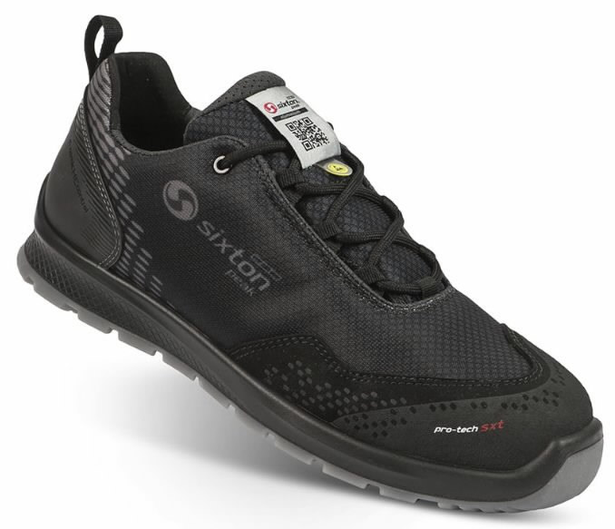 Safety shoes Skipper Auckland, black S3 ESD SRC 45, Sixton Peak