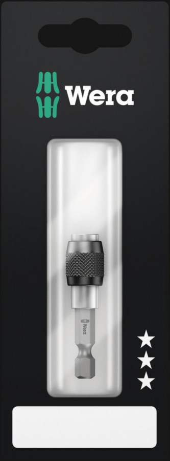 """патрон для насадок 1/4""""x50мм 895/4/1K в подвесной упаковке, быстрый замок, WERA"""