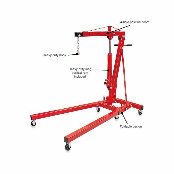 Gervė varikliui 1T (sulankstoma)  BIG RED, Torin Big Red