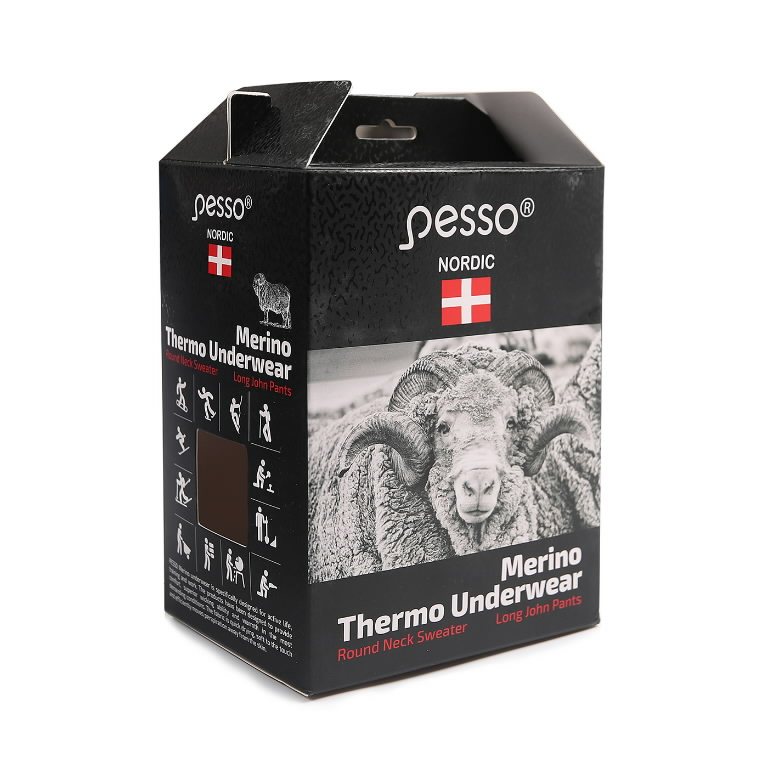 Termopesu komplekt MERINO80, must 2XL, Pesso