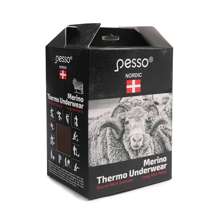 Termopesu komplekt MERINO80, must 3XL, Pesso
