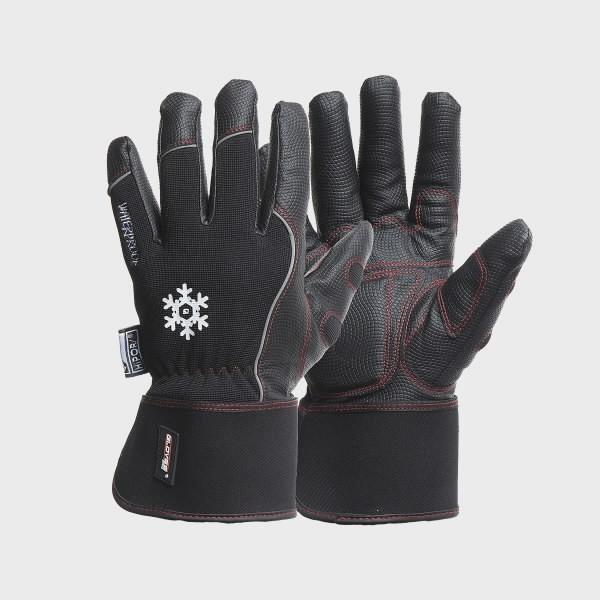Talvekindad, PU peopesa, Spandex, lai ranne, Black Winter 9, Gloves Pro®