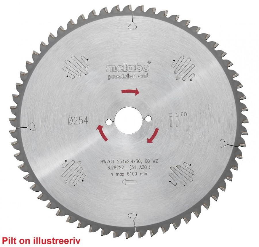 Saeketas 254x2,4/1,6x30, z40, WZ, 20°, Precision Cut. TS 254