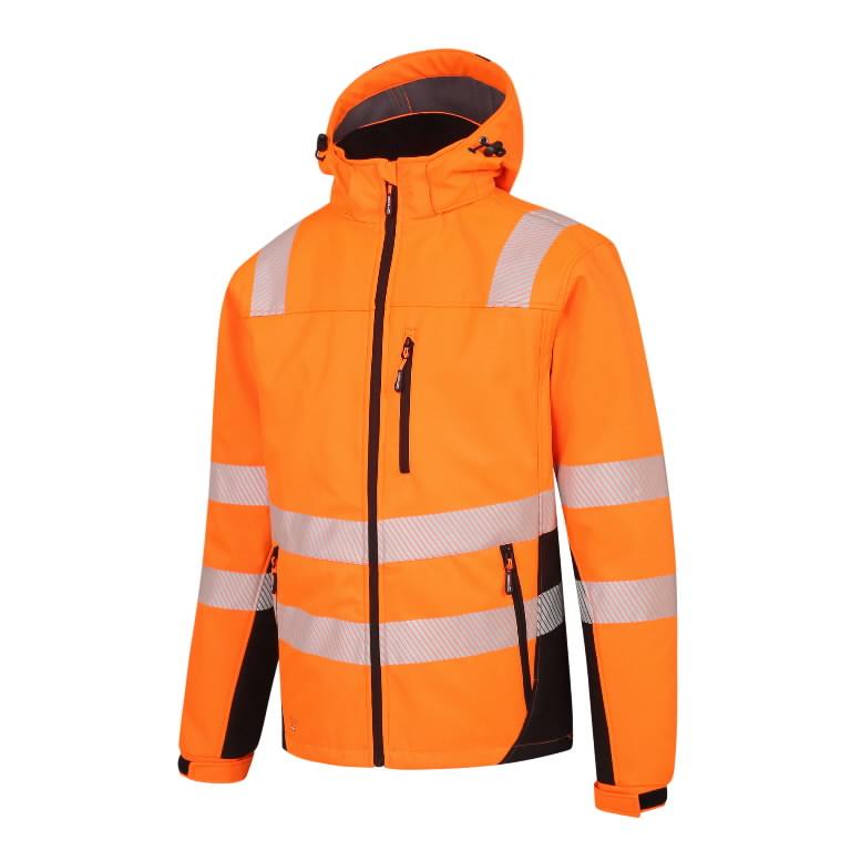 Hi-Vis ziemas softshell jaka Calgary, oranža 4XL