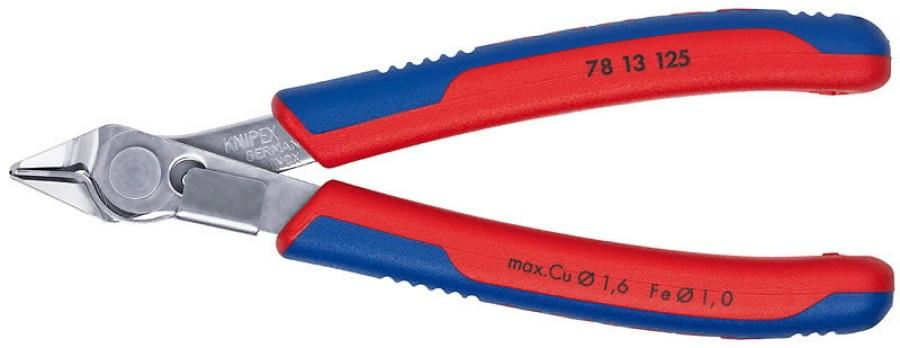 El. külglõiketangid Super Knips INOX 125mm D1,6mm otsahoidja, Knipex