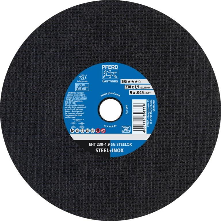 Diskas  EHT 230-1,9 A46 R SG-INOX, Pferd