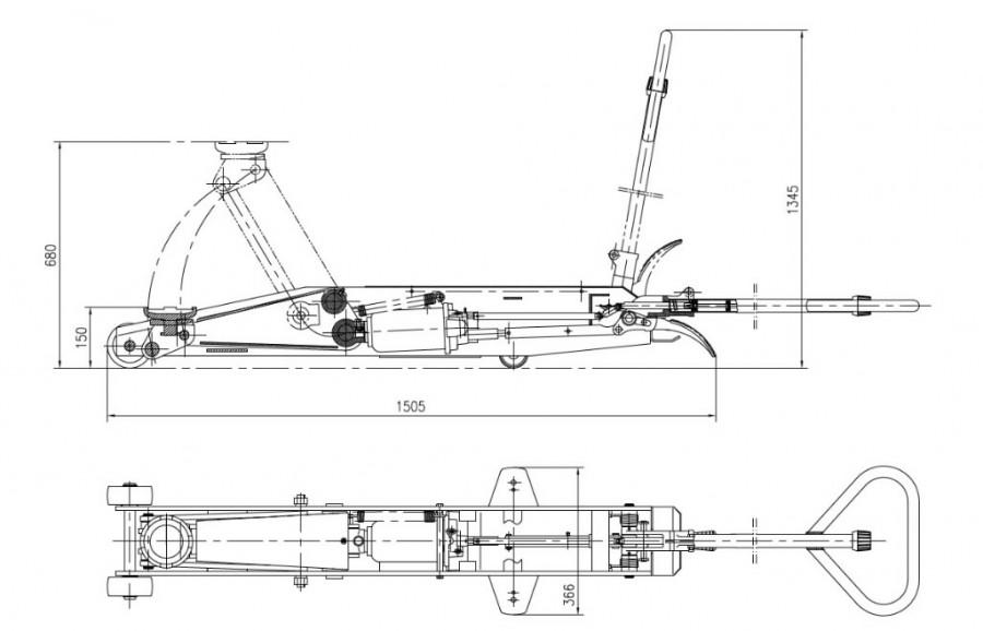 Hallitungraud 5T, kõrgus 550mm, Winntec