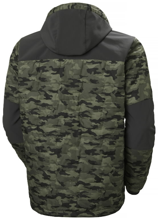 Jacket hooded Kensington Lifaloft, Camo XL, Helly Hansen WorkWear