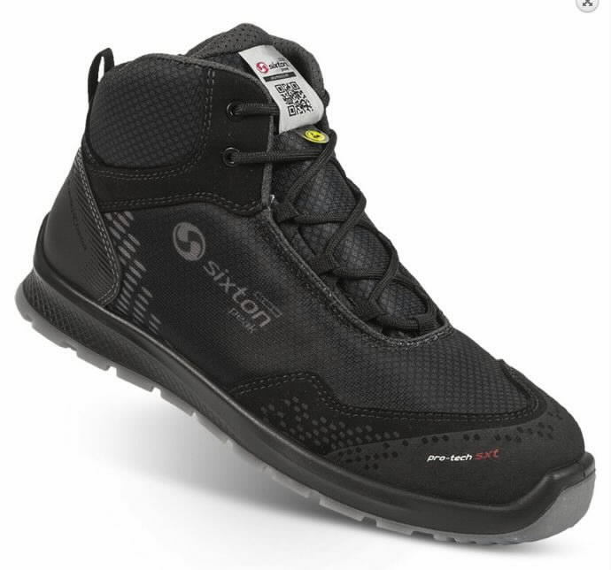 Safety shoes Skipper Auckland High, black S3 ESD SRC 44, Sixton Peak