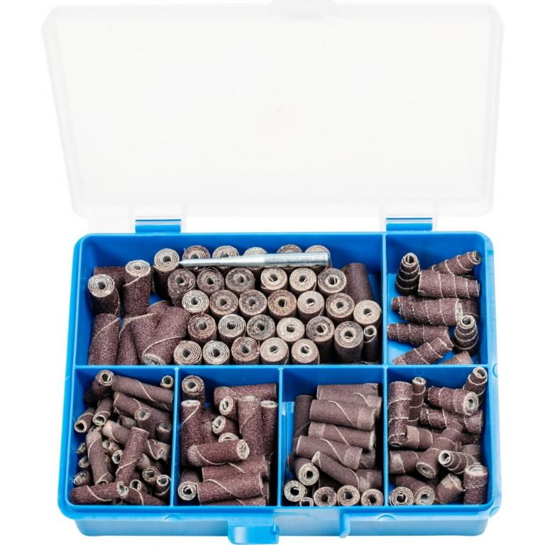 Cartridge rolls and abrasive cones set Poliroll PRS151, Pferd