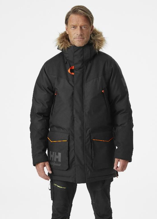 Talvejope parka Bifrost kapuutsiga, must XL