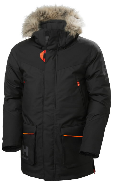 Winter jacket parka Bifrost, hooded, black 2XL, Helly Hansen WorkWear