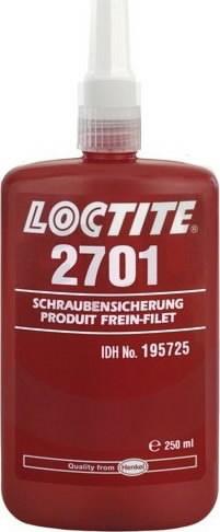 Keermeliim (suure tugevusega, 38Nm)  2701 250ml, Loctite