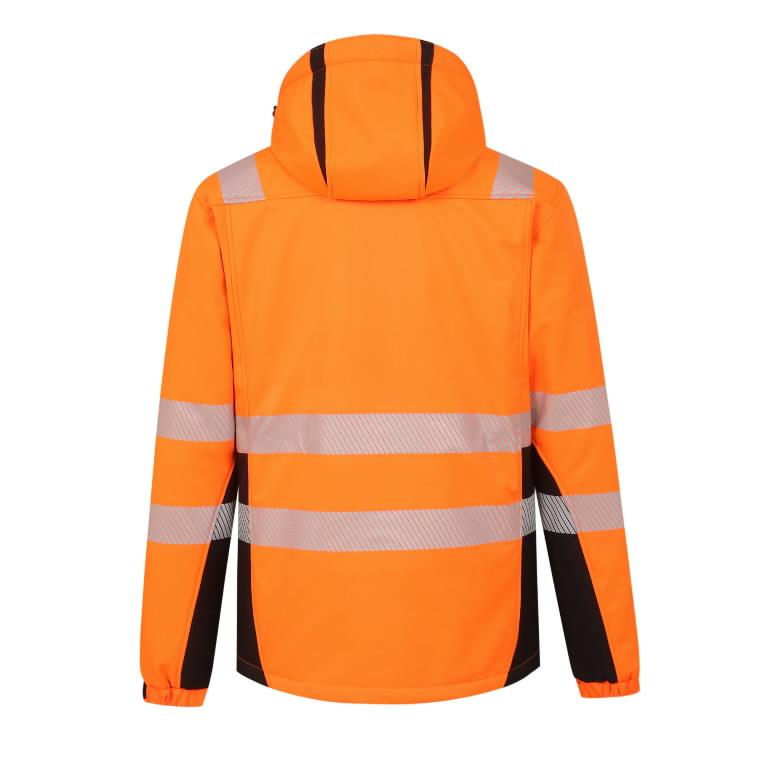 Softshell jakk Calgary voodriga kõrgnähtav, oranz 2XL, Pesso