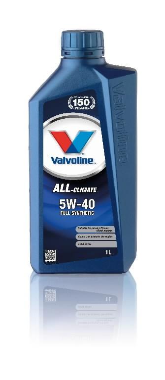 Mootoriõli ALL CLIMATE 5W40 1L, Valvoline