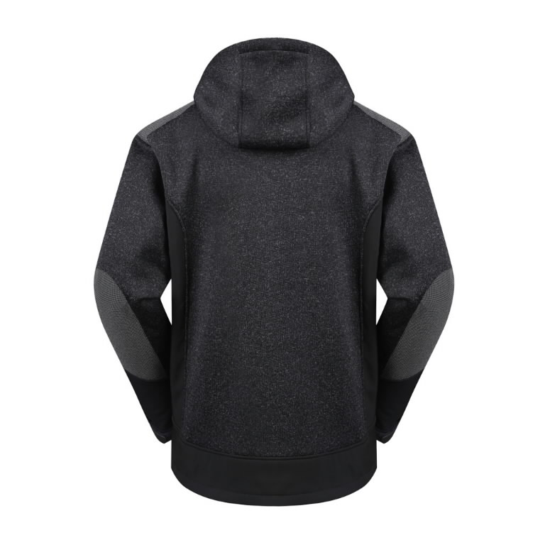Hoodie Oregon hooded, warm lining, black L, Pesso