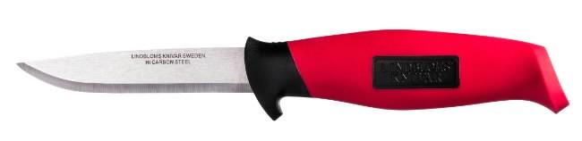 Pussnuga punane, kummist käepide, Lindbloms