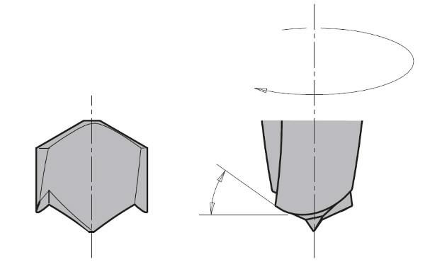 DOWEL DRILL HW SMG D= 6 X35X70 S=10X30 LH, CMT