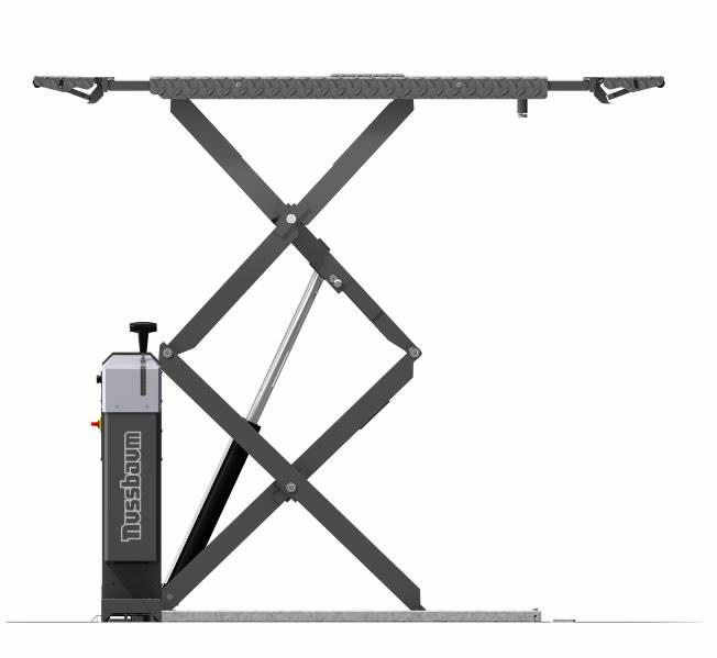 Topeltkäärtõstuk JUMBO-Lift NT, 3500, põrandasisene RAL 7016, Nussbaum