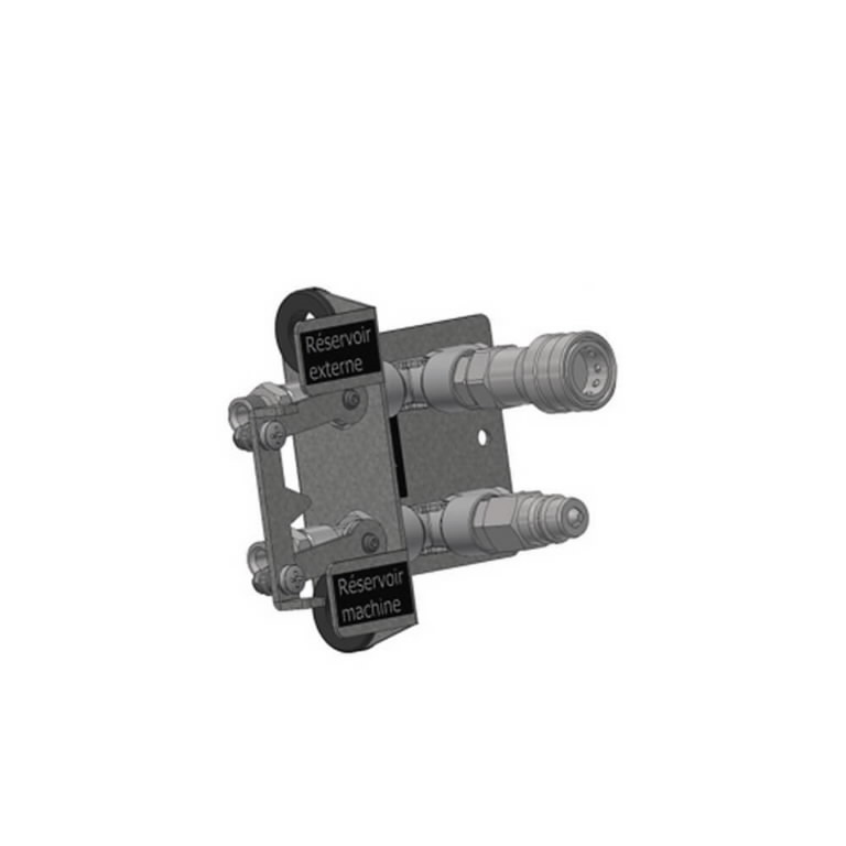 Quick connector for flex pipes to connect to external tank, Master