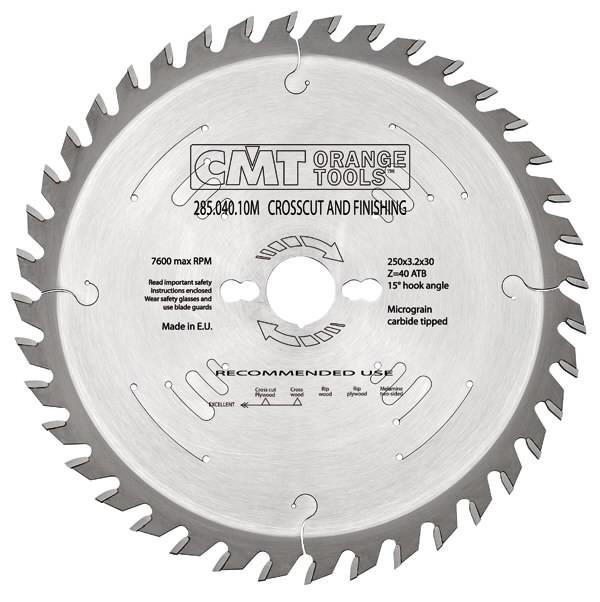 RIPPING-CROSSCUT SAW BLADE 305X3.2X30   Z=72 ATB -5°, CMT