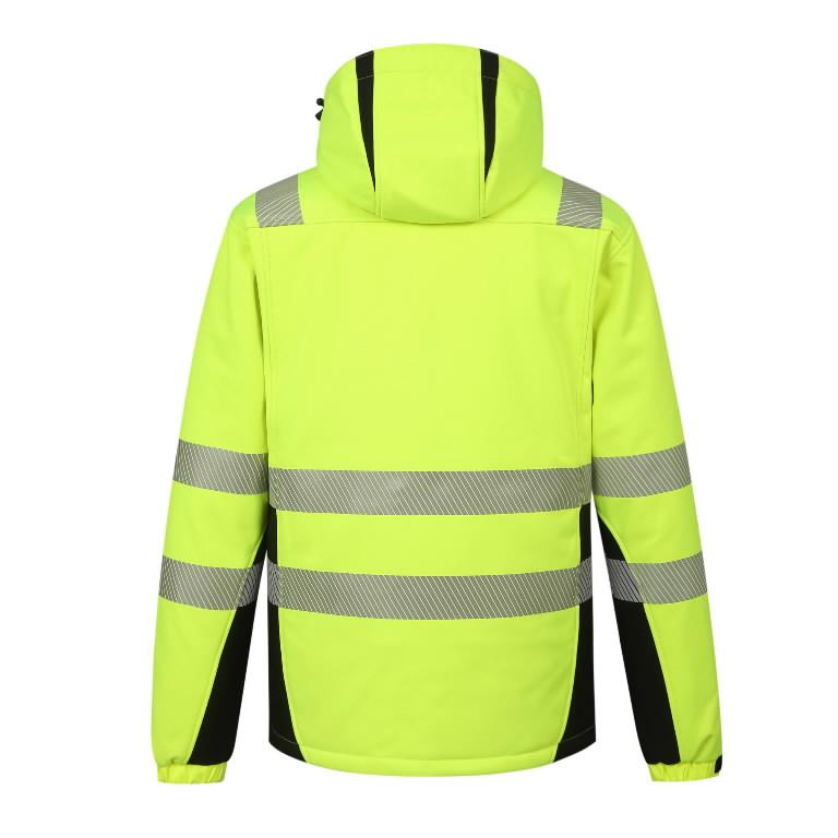 Winter softshell jacket Hi-Vis Calgary, yellow M, Pesso