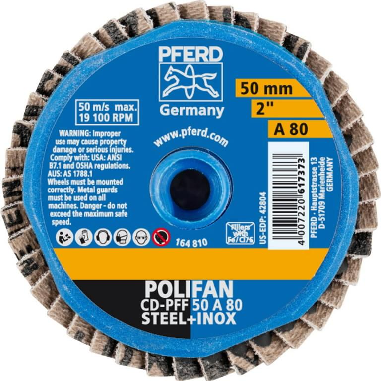 Väike lamellketas 50mm A80 PFF MINI-POLIFAN CD, Pferd