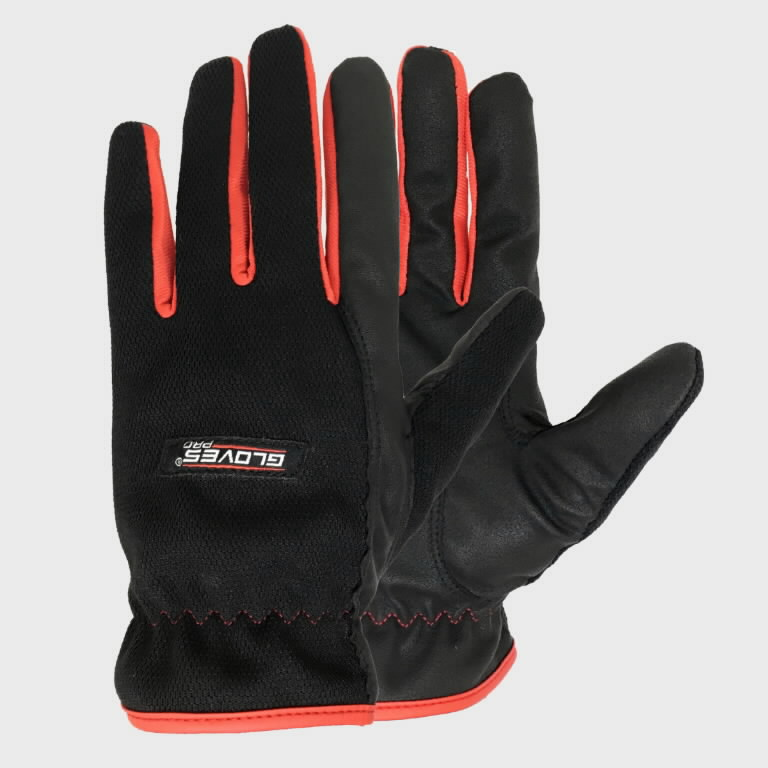 Kindad Red 1, pehme PU kattega 8, Gloves Pro®