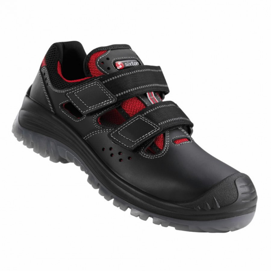 Safety sandals Portorico 03L Endurance, black, S1P SRC 43, Sixton Peak