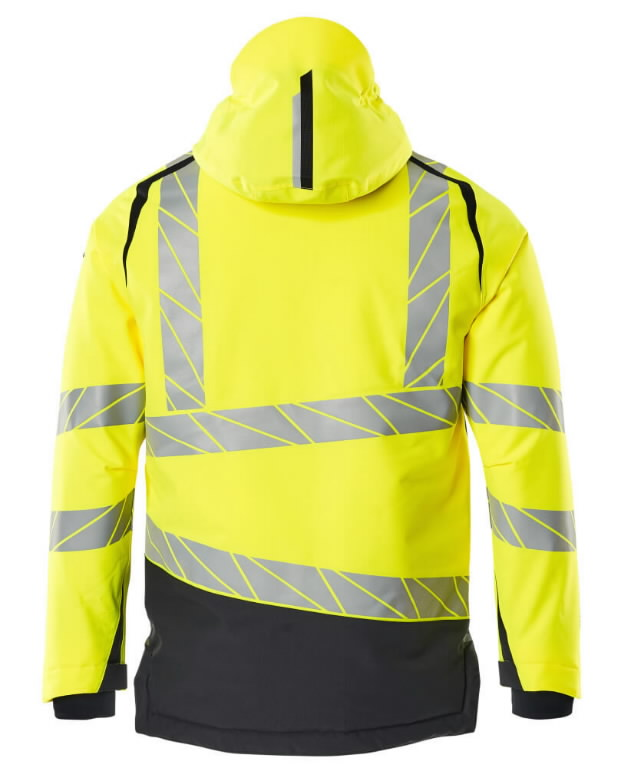 Hi. vis winterjacket Accelerate Safe, CL3, yellow/dark navy 2XL, Mascot