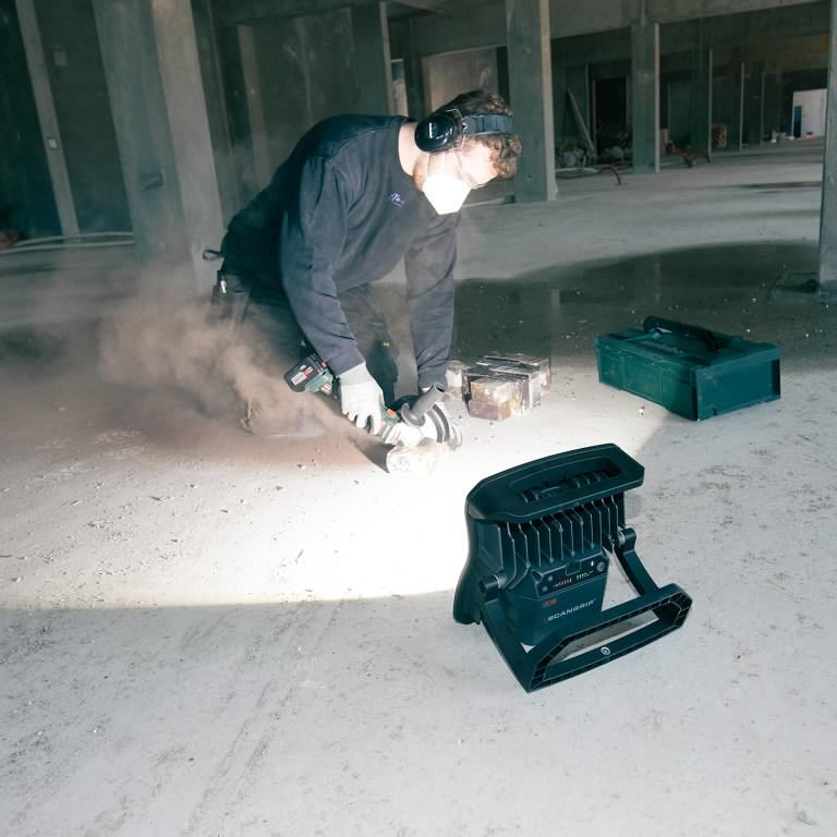 Akuga töövalgusti NOVA10, IP65, BT, 10000lm, karkass CAS, Scangrip