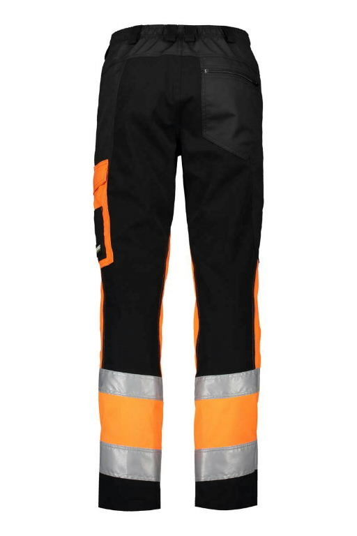 Tööpüksid 6063 Superstrets kõrgnähtav CL1 oranz/must/hall 50, Dimex