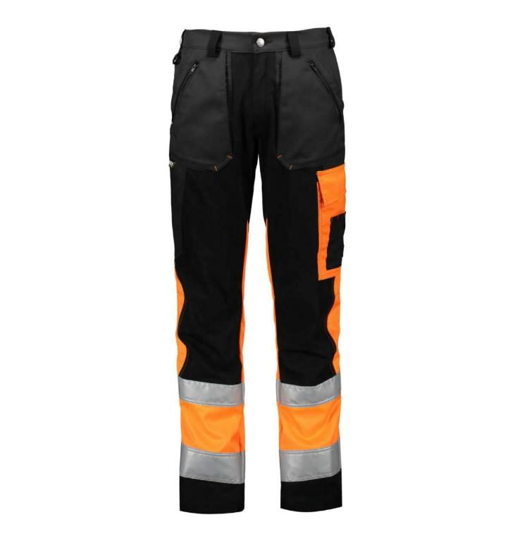 Tööpüksid 6063 Superstrets kõrgnähtav CL1 oranz/must/hall 52, Dimex