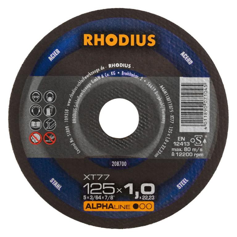 Metallilõikeketas 125x1,5x22,23 XT77 ALPHA line, Rhodius