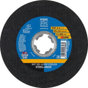 Lõikeketas 125x1mm PSF STEELOX X-LOCK, Pferd