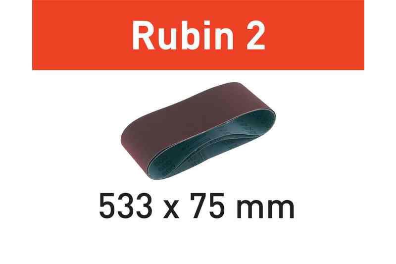 Lihvlint RUBIN 2 / 533 X 75mm / P100 / 10tk. Sobib: BS 75 E, Festool