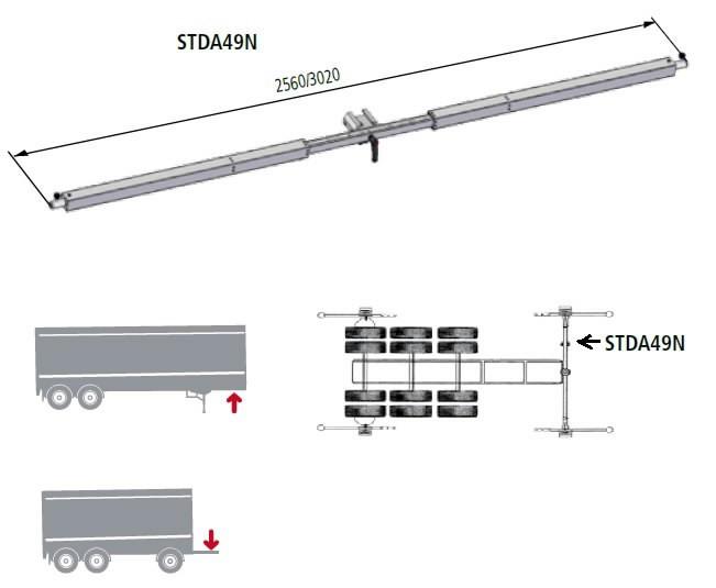 Sillastendi adapter STDA49N veoauto kärule, , Ravaglioli