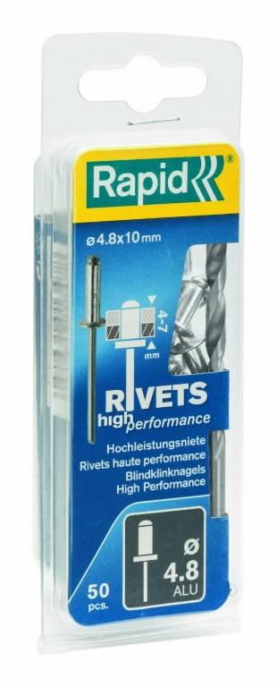 Neet alumiinum Al 4,8x10mm 50tk + Drill C, Rapid