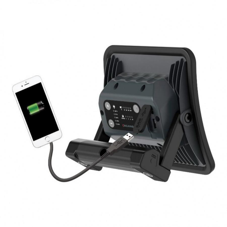 Töövalgusti LED NOVA R laetav+akupank IP67 6500K 2000lm, Scangrip